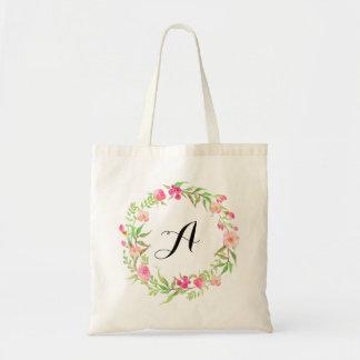 Sac Accueil floral de mariage de guirlande d'aquarelle