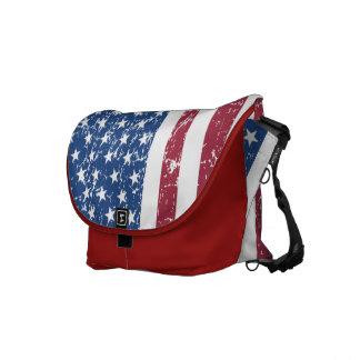 Sac affligé de drapeau américain de sembler besaces