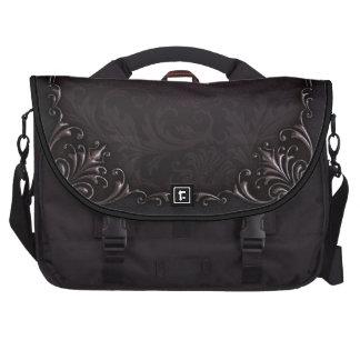 Sac affligé élégant d'ordinateur portable de noir sac pour ordinateurs portables