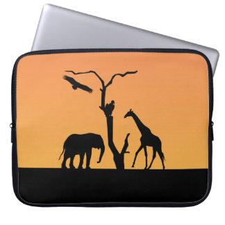 Sac africain d'ordinateur portable de coucher du s trousses ordinateur