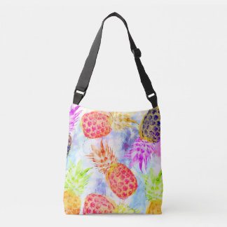Sac Ajustable Aquarelle Artsy de motif tropical d'ananas