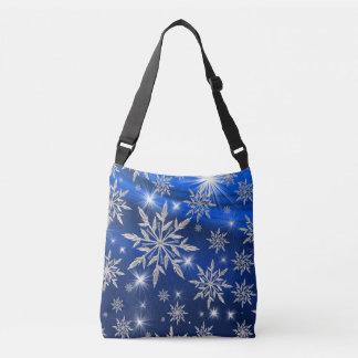 Sac Ajustable Étoiles bleues de Noël avec le cristal de glace