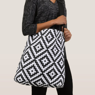 Sac Ajustable Grand motif de bloc aztèque de symbole noir et