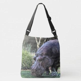 Sac Ajustable hippopotame peint