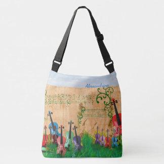 Sac Ajustable Jardin Brillant-Coloré de violon avec l'option