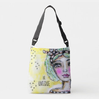 Sac Ajustable Jaune de princesse Girl Cute Watercolor