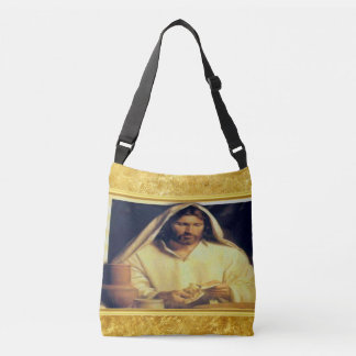 Sac Ajustable Jésus cassant l'or de pain et la texture noire