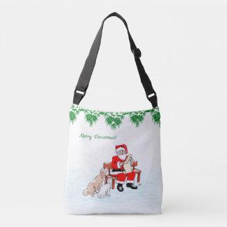 Sac Ajustable Joyeux Noël - le père noël avec le chat et le