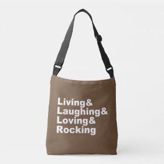 Sac Ajustable Living&Laughing&Loving&ROCKING (blanc)