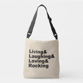 Sac Ajustable Living&Laughing&Loving&ROCKING (noir)