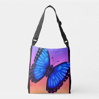 Sac Ajustable Papillon bleu de Morpho dorsal et ventral