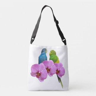 Sac Ajustable Perruche avec l'orchidée pourpre