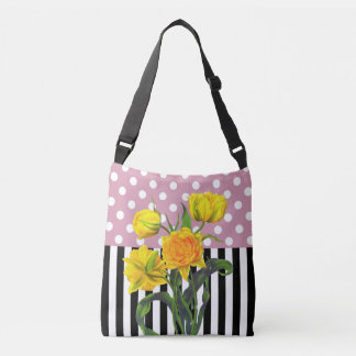 Sac Ajustable point de polka jaune de tulipe