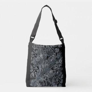 Sac Ajustable style floral argenté de marqueterie