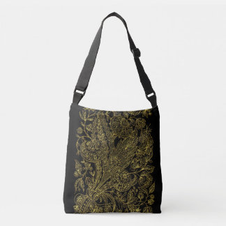 Sac Ajustable Style inlayed d'or floral