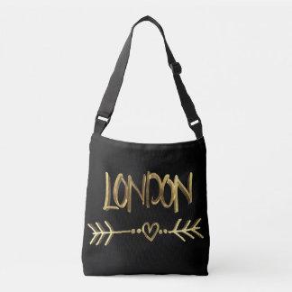 Sac Ajustable Typographie BRITANNIQUE d'or d'amour de Londres