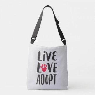 Sac Ajustable Vivant. Amour. Adoptez l'adoption d'animal