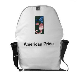 Sac américain de fierté de pays d'hippocampe sacoche