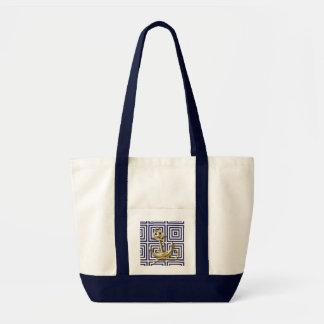 Sac Ancre de motif de bleu marine nautique