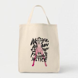 Sac Art de typographie de brosse de femme de merveille