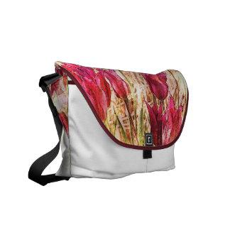 sac artistique rose de tulipes sacoches