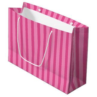Sac assez rose de cadeau de rayure de sucrerie grand sac cadeau