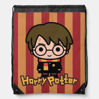 Sac Avec Cordons Art de personnage de dessin animé de Harry Potter