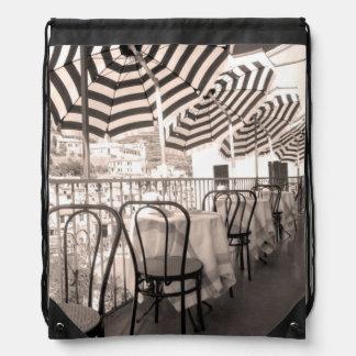Sac Avec Cordons Balcon étrange de restaurant, Italie