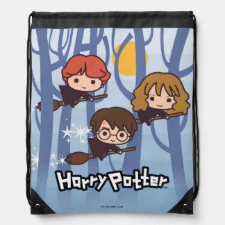 Sac Avec Cordons Bande dessinée Harry, Ron, et vol de Hermione en