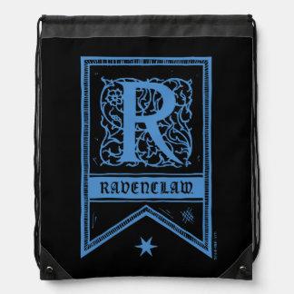 Sac Avec Cordons Bannière de monogramme de Harry Potter   Ravenclaw