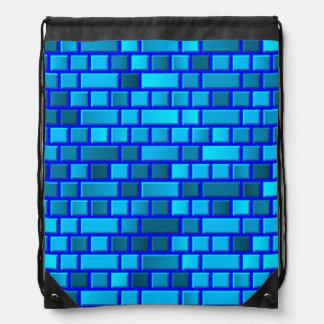 Sac Avec Cordons Briques bleues