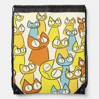 Sac Avec Cordons Chats colorés de sort de regarder