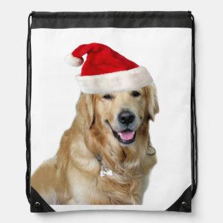 Sac Avec Cordons Chien-animal familier de Labrador Noël-père Noël