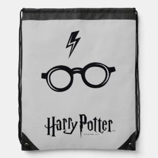 Sac Avec Cordons Cicatrice et verres de foudre du charme   de Harry