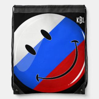 Sac Avec Cordons Drapeau russe de sourire