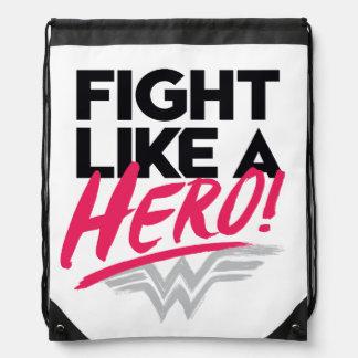 Sac Avec Cordons Femme de merveille - combat comme un héros
