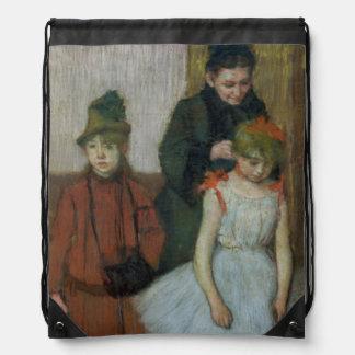 Sac Avec Cordons Femme d'Edgar Degas | avec deux petites filles