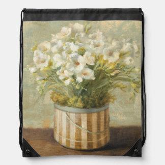 Sac Avec Cordons Fleurs dans une boîte de casquette