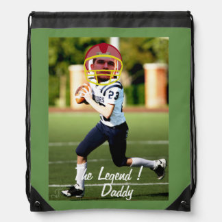 Sac Avec Cordons Football American Player - with YOUR Photo & Text-