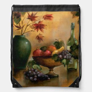 Sac Avec Cordons Fruits et vin avec des tonalités d'automne