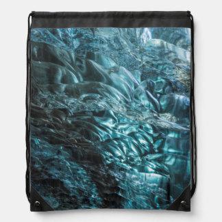 Sac Avec Cordons Glace bleue d'une caverne de glace, Islande