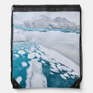 Sac Avec Cordons Glace congelée de glacier, Islande