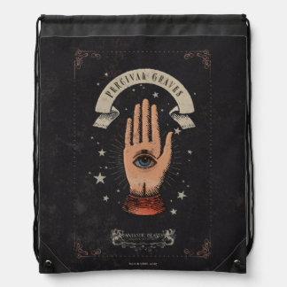 Sac Avec Cordons Graphique magique de main de tombes de Perceval