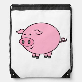 Sac Avec Cordons Gros porc rose