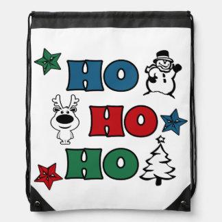 Sac Avec Cordons Ho-Ho-Ho conception de Noël