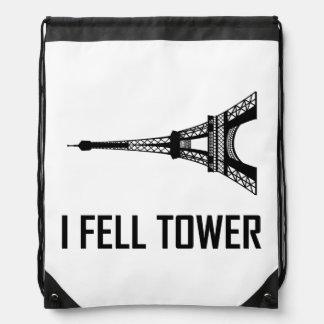 Sac Avec Cordons Je suis tombé Tour Eiffel