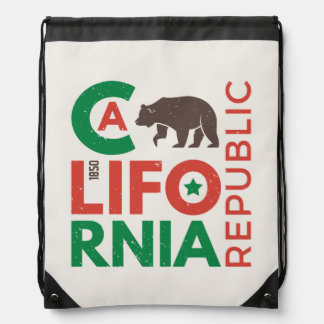 Sac Avec Cordons La Californie avec le logo d'ours gris