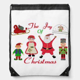 Sac Avec Cordons La joie du collage de Noël