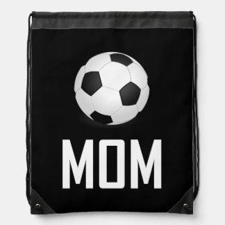 Sac Avec Cordons Le ballon de football folâtre la maman