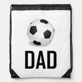 Sac Avec Cordons Le ballon de football folâtre le papa